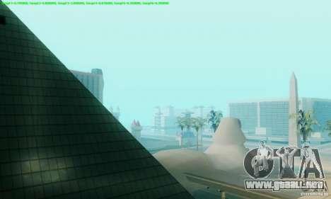 Marty McFly ENB 2.0 California Sun para GTA San Andreas sucesivamente de pantalla