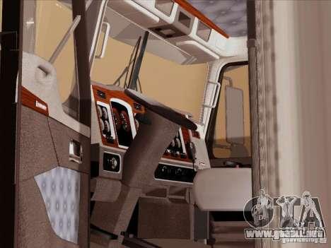 Kenworth T800 para visión interna GTA San Andreas