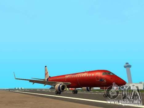 Embraer ERJ 190 Virgin Blue para GTA San Andreas left