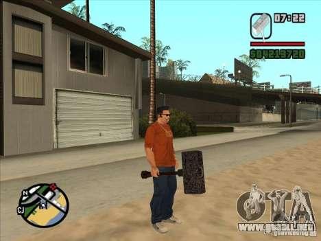 Martillo del WarCraft III para GTA San Andreas segunda pantalla