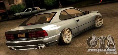 BMW 850 CSI para GTA San Andreas vista posterior izquierda