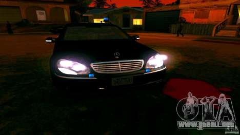 Mercedes S500 para visión interna GTA San Andreas
