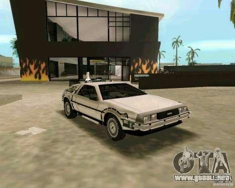 BTTF DeLorean DMC 12 para GTA Vice City