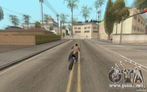 Digital speedometer and tachometer para GTA San Andreas sucesivamente de pantalla