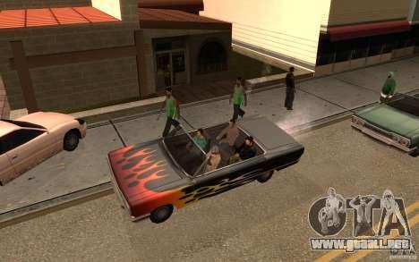 Brigada versión 2.0 para GTA San Andreas segunda pantalla