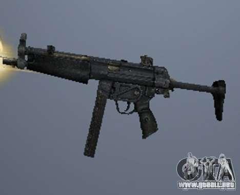 Un conjunto de armas de un acosador para GTA San Andreas quinta pantalla