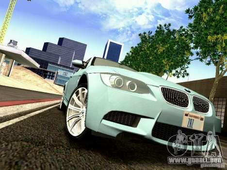 BMW M3 MotoGP SafetyCar para visión interna GTA San Andreas