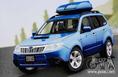 Subaru Forester XT 2008 para visión interna GTA San Andreas