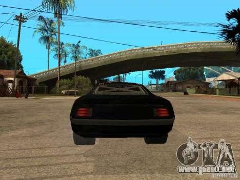 Plymouth Hemi Cuda Rogue Speed para GTA San Andreas vista posterior izquierda