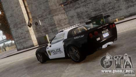 Chevrolet Corvette LCPD Pursuit Unit para GTA 4 left