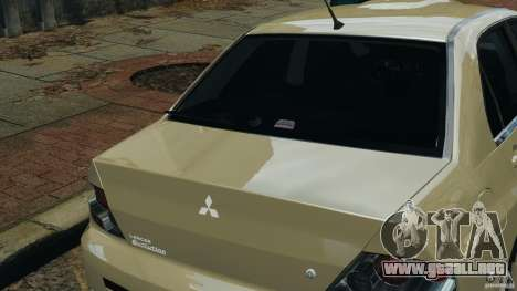 Mitsubishi Lancer Evolution VIII v1.0 para GTA 4 vista superior