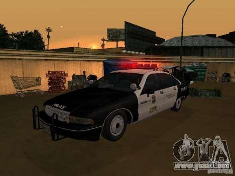 Chevrolet Caprice Police para la visión correcta GTA San Andreas