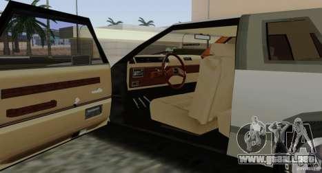 Virgo Continental para vista inferior GTA San Andreas