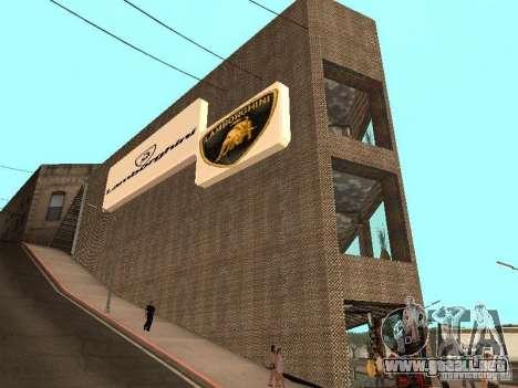 Nuevo showroom de Lamborghini en San Fierro para GTA San Andreas segunda pantalla