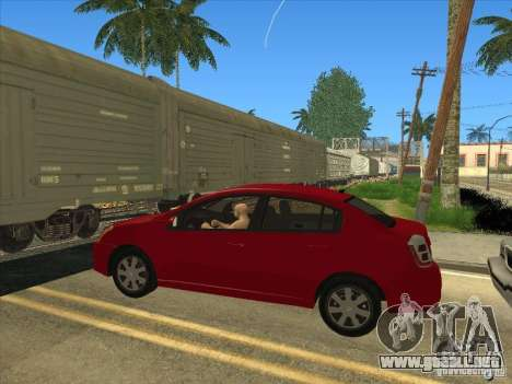 Nissan Sentra 2012 para GTA San Andreas vista posterior izquierda