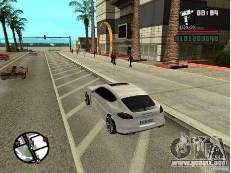 Porshe Panamera para GTA San Andreas vista posterior izquierda