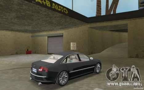 Audi A8 para GTA Vice City vista posterior