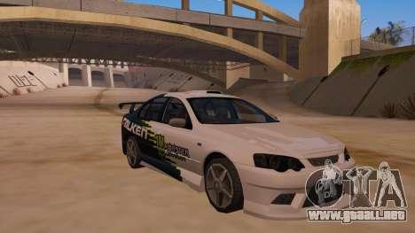 Ford Falcon XR8 2008 Tunable V1.0 para visión interna GTA San Andreas