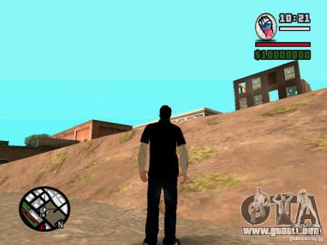 Slaude FXstyle para GTA San Andreas segunda pantalla