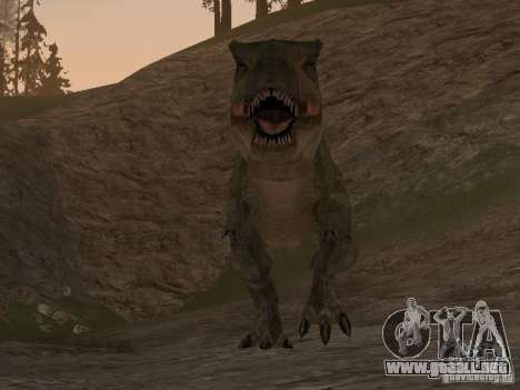 Dinosaurs Attack mod para GTA San Andreas sucesivamente de pantalla