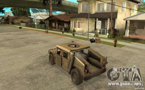 Hummer H1 War Edition para GTA San Andreas