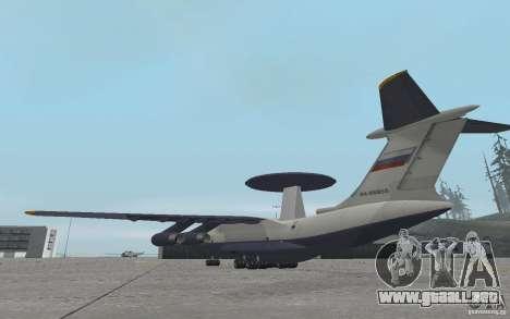 Berijew A-50 Mainstay para GTA San Andreas vista posterior izquierda