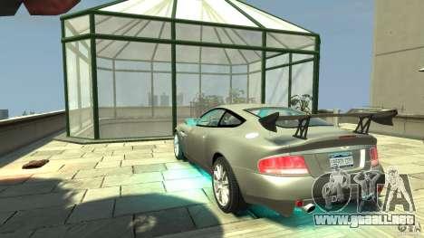 Aston Martin Vanquish S v2.0 sin tonificante para GTA 4 Vista posterior izquierda