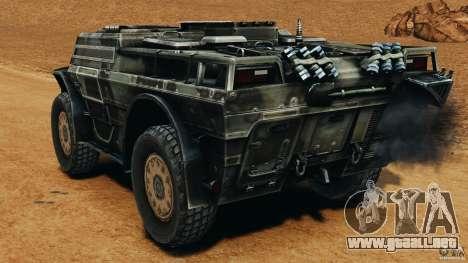 Armored Security Vehicle para GTA 4 Vista posterior izquierda