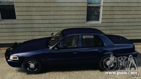 Ford Crown Victoria Police Unit [ELS] para GTA 4 left