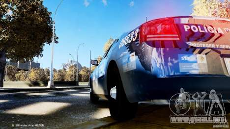 POLICIA FEDERAL MEXICO DODGE CHARGER ELS para GTA 4 vista interior