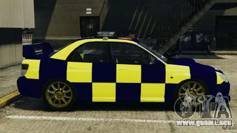 Subaru Impreza British ANPR [ELS] para GTA 4 left