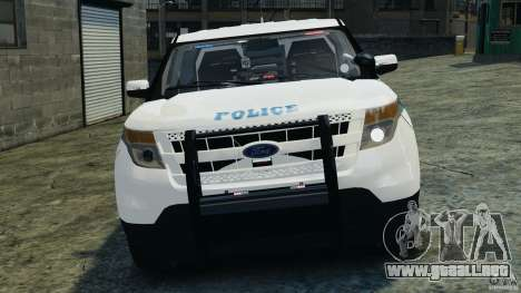 Ford Explorer NYPD ESU 2013 [ELS] para GTA 4 vista interior