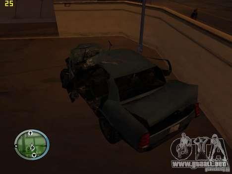 Autos rotas en la calle Grove para GTA San Andreas octavo de pantalla