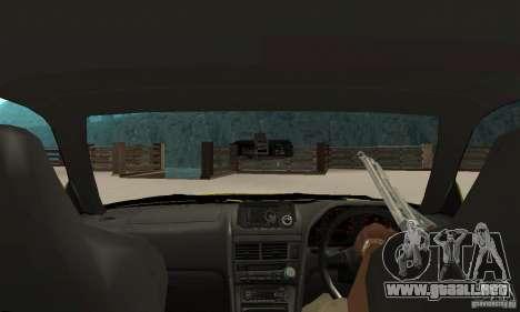 Nissan Skyline R34 GTR para la visión correcta GTA San Andreas