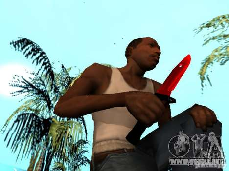 Red Chrome Weapon Pack para GTA San Andreas undécima de pantalla