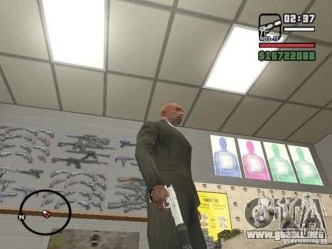 Silverballer silenciado de Hitman para GTA San Andreas tercera pantalla