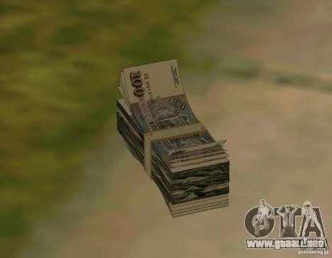 Rublos, junto con dólares para GTA San Andreas sucesivamente de pantalla
