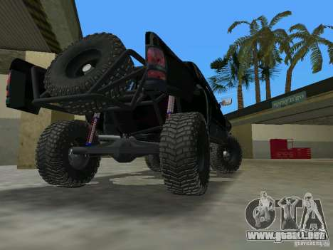 Dodge Ram Prerunner para GTA Vice City vista lateral izquierdo