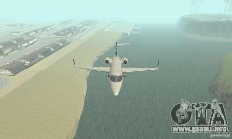 Bombardier Leardjet 45XR para visión interna GTA San Andreas