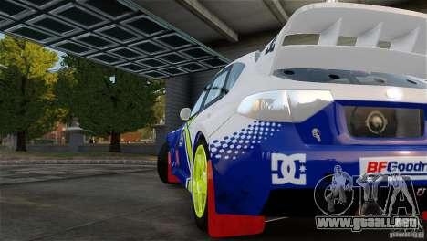 Subaru Impreza WRX STI Rallycross BFGoodric para GTA 4 visión correcta