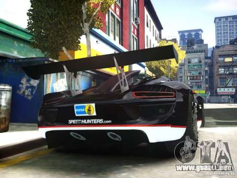 Porsche 918 Spider Body Kit Final para GTA 4 visión correcta