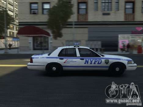 Ford Crown Victoria NYPD 2012 para GTA 4 vista hacia atrás