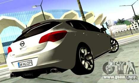 Opel Astra Senner para GTA San Andreas vista hacia atrás