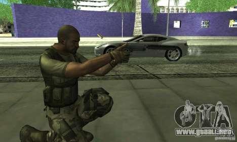 Sam Fisher Army SCDA para GTA San Andreas sucesivamente de pantalla