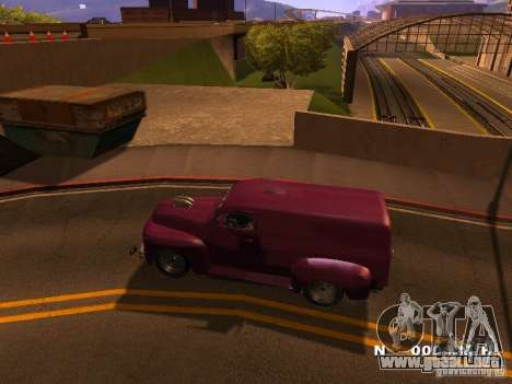 49 Ford HR Van para GTA San Andreas left