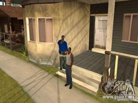 Puede sentarse, fumar, beber whisky, vómitos, es para GTA San Andreas tercera pantalla