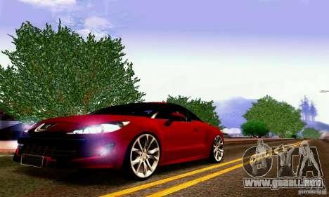 Peugeot Rcz 2011 para la vista superior GTA San Andreas