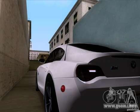 BMW Z4 M Coupe para la vista superior GTA San Andreas