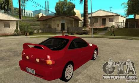 Acura Integra Type-R - Stock para la visión correcta GTA San Andreas