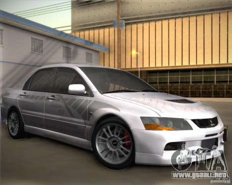 Mitsubishi Lancer Evolution IX Tunable para vista lateral GTA San Andreas